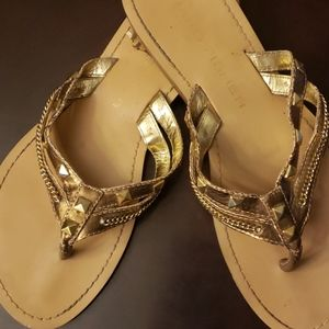 Gold sandals Marc Fisher
